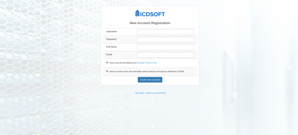 Reseller Account Registration